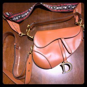 Handbags - Brown Saddle Bag, Multiple Straps